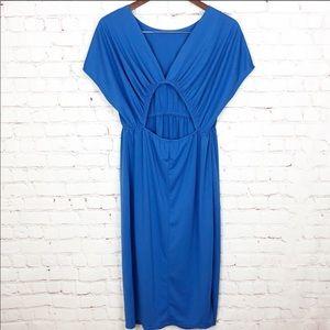 ASOS | Royal Blue Midi Back Cutout Sheath Dress 6